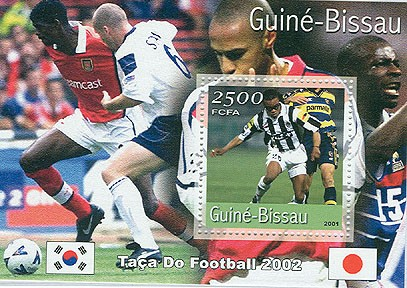 Footbal 2500 FCFA  S/S - Issue of Guinée-Bissau postage stamps