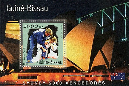 Judo 2000 FCFA   S/S - Issue of Guinée-Bissau postage stamps