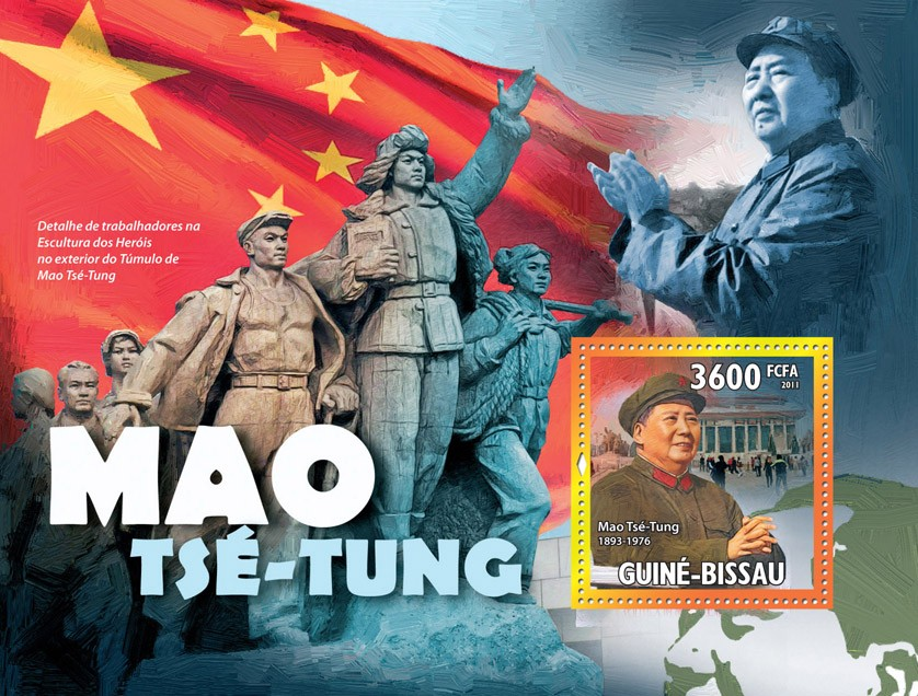 Mao Tse-Tung (Chairman of Communist Party of China ). - Issue of Guinée-Bissau postage stamps