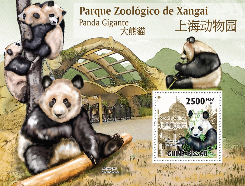 Giant Panda. - Issue of Guinée-Bissau postage stamps