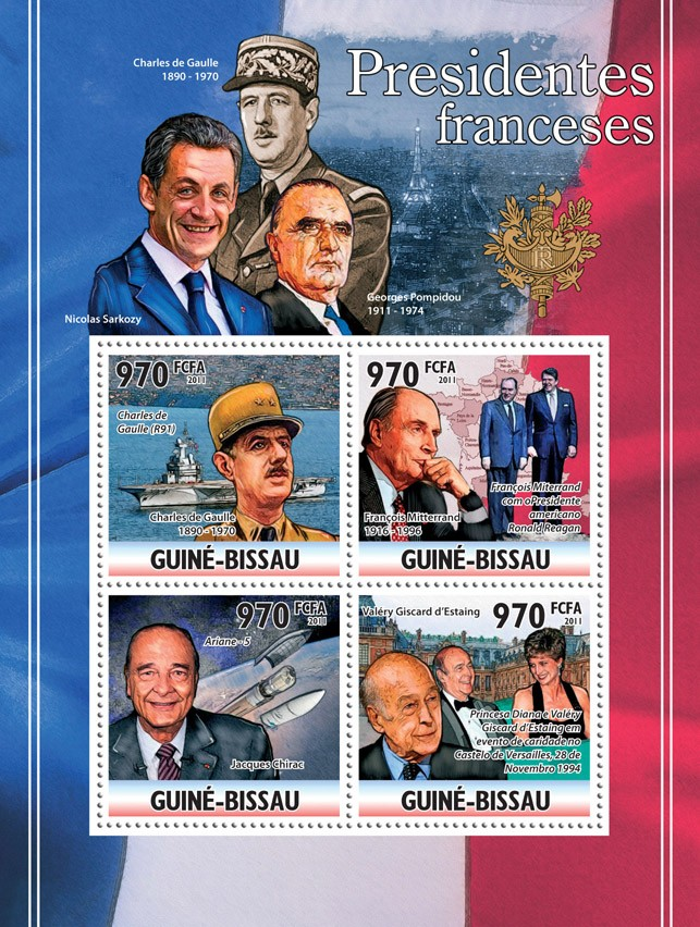 French Presidents. - Issue of Guinée-Bissau postage stamps