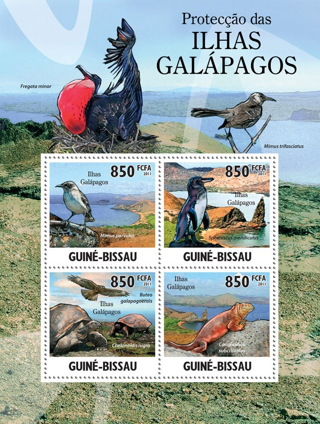Protection of Fauna at Galapagos Islands. - Issue of Guinée-Bissau postage stamps
