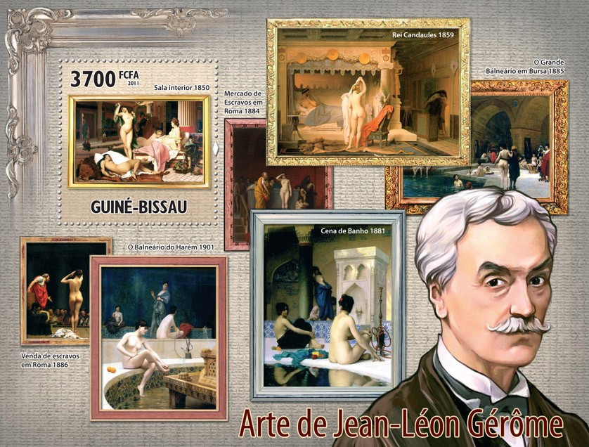 Paintings of Jean-Leon Gerome. - Issue of Guinée-Bissau postage stamps