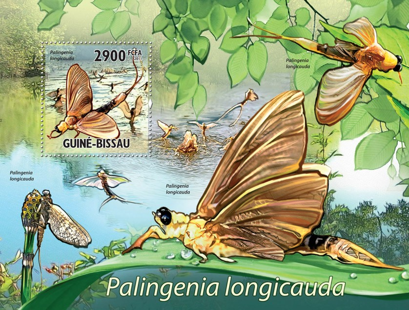 Insect (Palingenia lagicauda). - Issue of Guinée-Bissau postage stamps