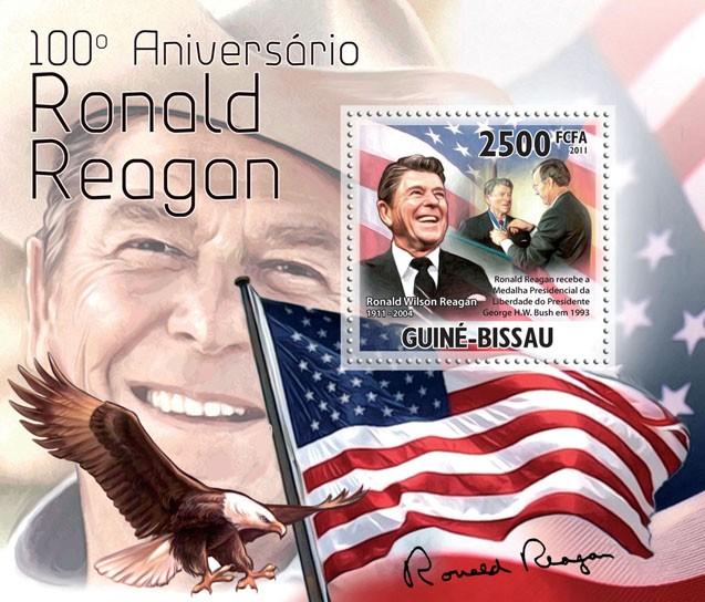 100th Anniversary of Ronald Reagan, (1911-2004). - Issue of Guinée-Bissau postage stamps