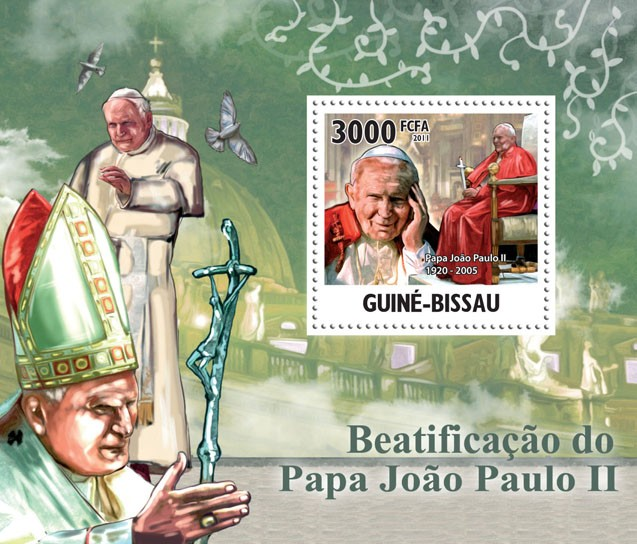 Beatification of Pope John Paul II, (1920-2005), II. - Issue of Guinée-Bissau postage stamps
