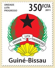 Guinea-Bissau - coat of arms - Issue of Guinée-Bissau postage stamps