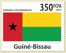 Guinea-Bissau flag - Issue of Guinée-Bissau postage stamps
