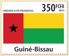 Guinea-Bissau flag - Issue of Guinée-Bissau postage stamps