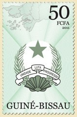 Coat of arms I - Issue of Guinée-Bissau postage stamps