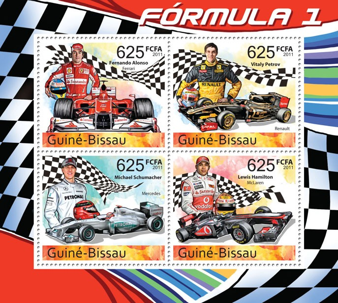 2011 Formula I - Issue of Guinée-Bissau postage stamps