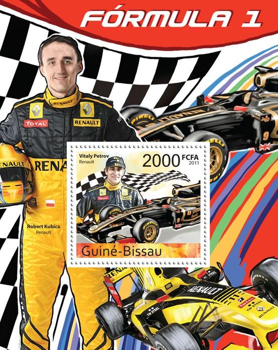 2011 Formula I - Issue of Guinée-Bissau postage stamps