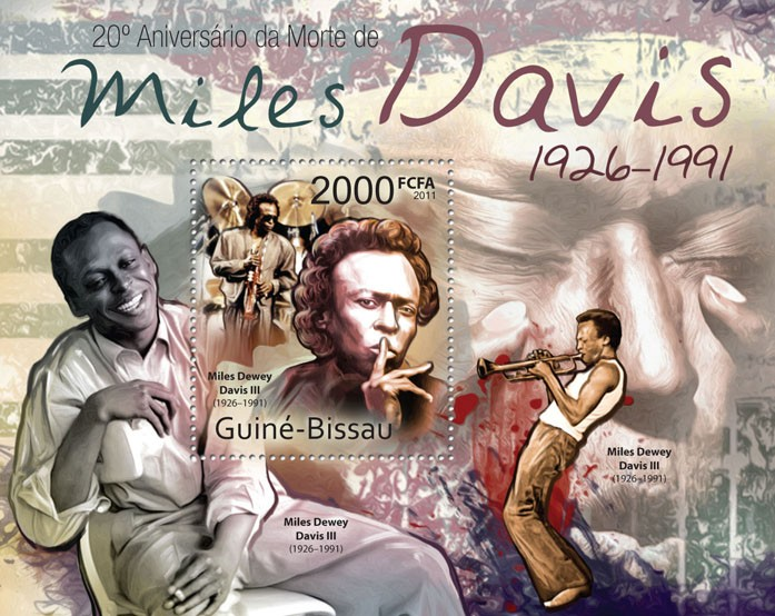 Miles Davis 1926-1991 - Issue of Guinée-Bissau postage stamps