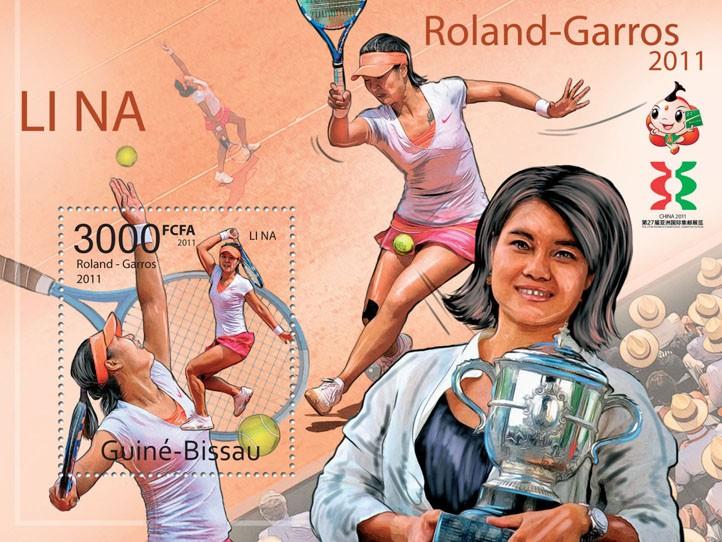 Li Na Roland-Garros 2011 - Issue of Guinée-Bissau postage stamps