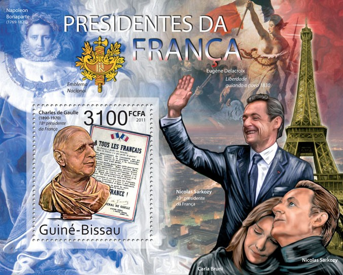 France Presidents - Issue of Guinée-Bissau postage stamps