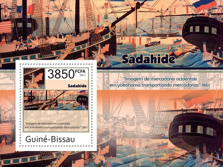 ART of Sadahide - Issue of Guinée-Bissau postage stamps