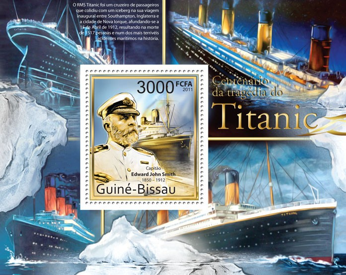 Centenary of the Tragedy of Titanic. - Issue of Guinée-Bissau postage stamps