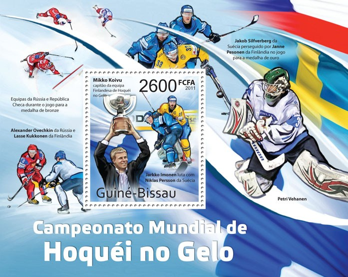 World Ice Hockey Championship 2011. - Issue of Guinée-Bissau postage stamps