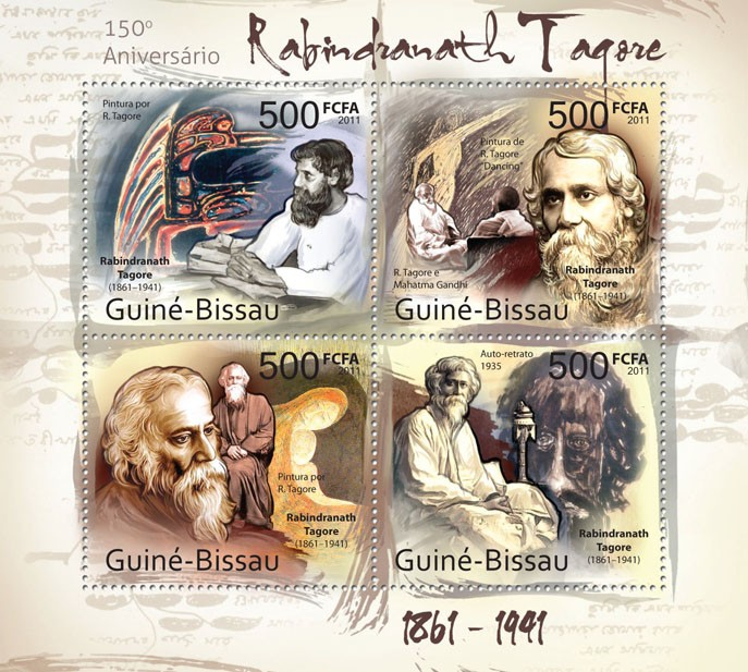 150th Anniversary of Rabindranath Tagore ( 1861-1991 ). - Issue of Guinée-Bissau postage stamps