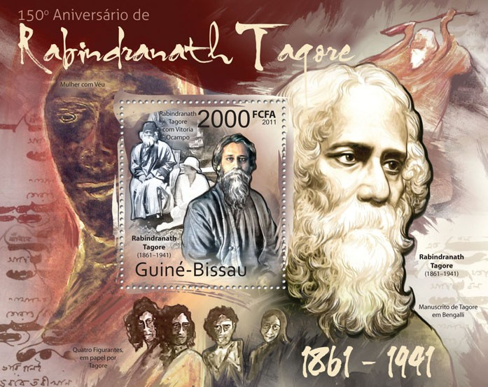 150th Anniversary of Rabindranath Tagoge (1861-1991). - Issue of Guinée-Bissau postage stamps