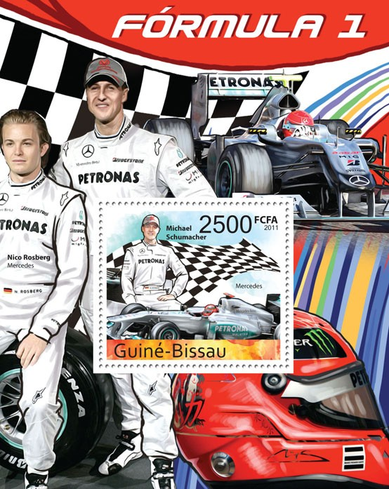 Formula 1 - ( Michael Schumacher), I. - Issue of Guinée-Bissau postage stamps