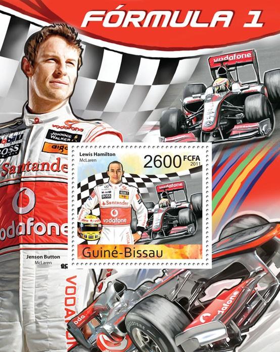 Formula 1 - ( Lewis Hamilton ), II. - Issue of Guinée-Bissau postage stamps