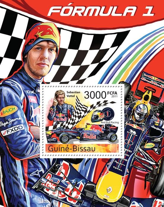 Formula 1 - ( Sebastian Vettel ), IV. - Issue of Guinée-Bissau postage stamps