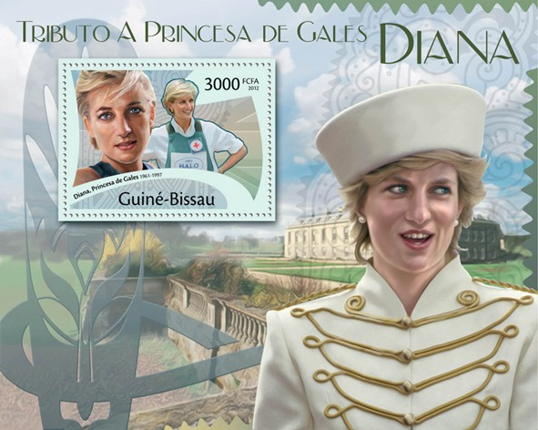 Tribute to Princess Diana, (1961-1977),  Red Cross. - Issue of Guinée-Bissau postage stamps