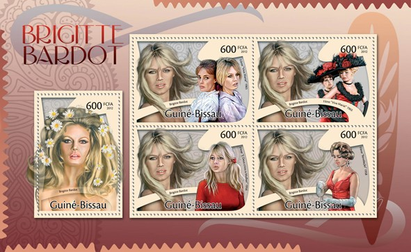 Brigitte Bardot. - Issue of Guinée-Bissau postage stamps