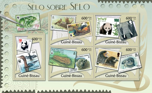 Stamps on Stamps, (WWF). - Issue of Guinée-Bissau postage stamps