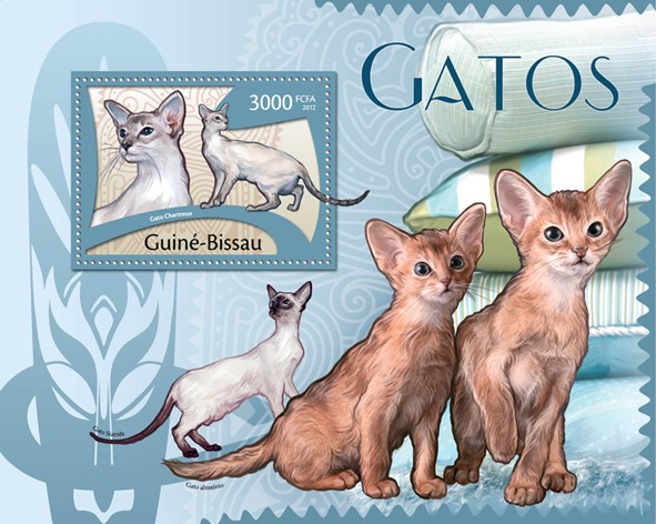 Cats, (Gato Chartreux). - Issue of Guinée-Bissau postage stamps