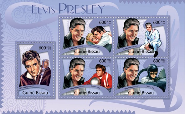 Elvis Presley, (1935-1977). - Issue of Guinée-Bissau postage stamps