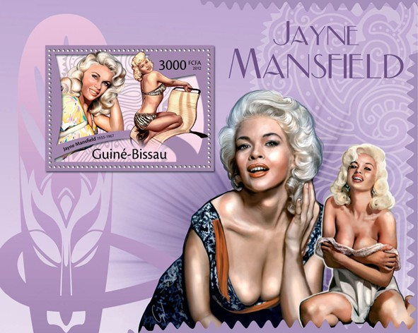Jayne Mansfield, (1933-1967). - Issue of Guinée-Bissau postage stamps