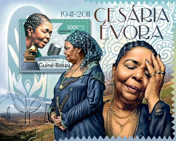 Cesaria Evora, (1941-2011). - Issue of Guinée-Bissau postage stamps