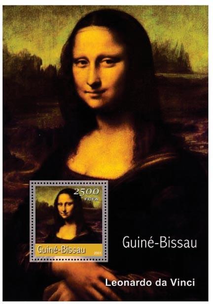 Leonardo da Vinci (La Joconde)    2500 FCFA S/S - Issue of Guinée-Bissau postage stamps