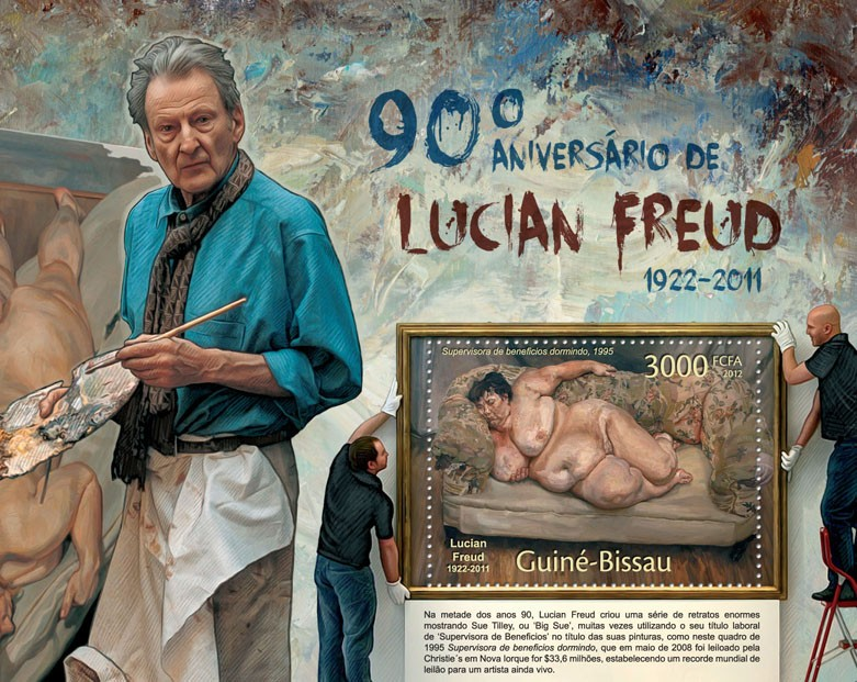 Paintings of Lucian Freud, (90th Anniversary: 1922-2011). - Issue of Guinée-Bissau postage stamps