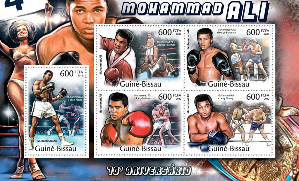 Mohamed Ali, (70th Anniversary). - Issue of Guinée-Bissau postage stamps