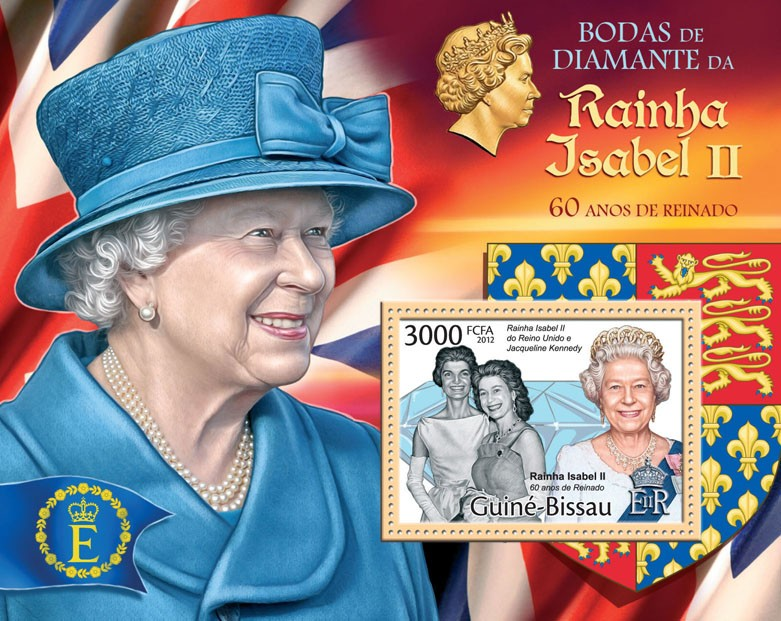 Queen Elizabeth - Diamond Jubilee, (Jacqueline Kenedy). - Issue of Guinée-Bissau postage stamps
