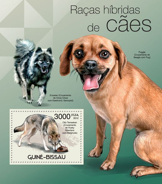 Hybrid Dogs, (Tamaskan). - Issue of Guinée-Bissau postage stamps
