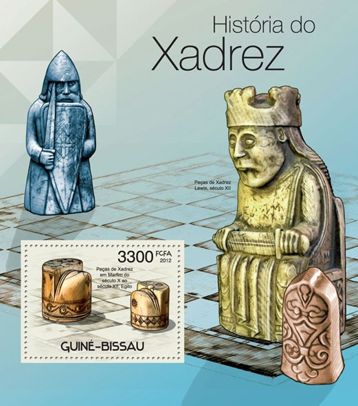 Chess History, (Old Chess). - Issue of Guinée-Bissau postage stamps