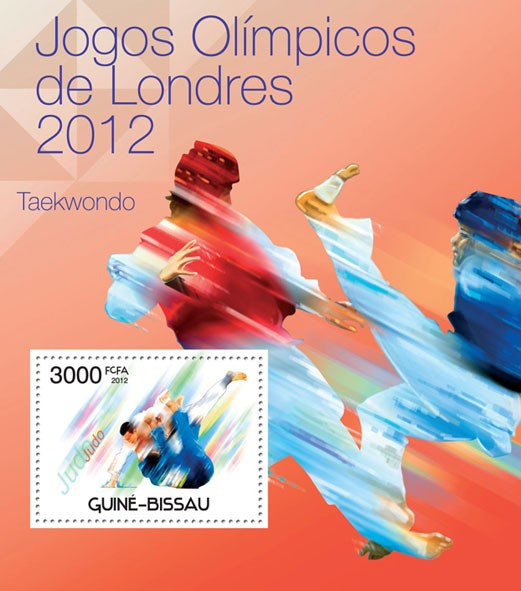 London Olympic Games 2012, (Judo). - Issue of Guinée-Bissau postage stamps