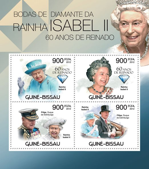 Diamond Jubilee of Queen Elizabeth II. - Issue of Guinée-Bissau postage stamps