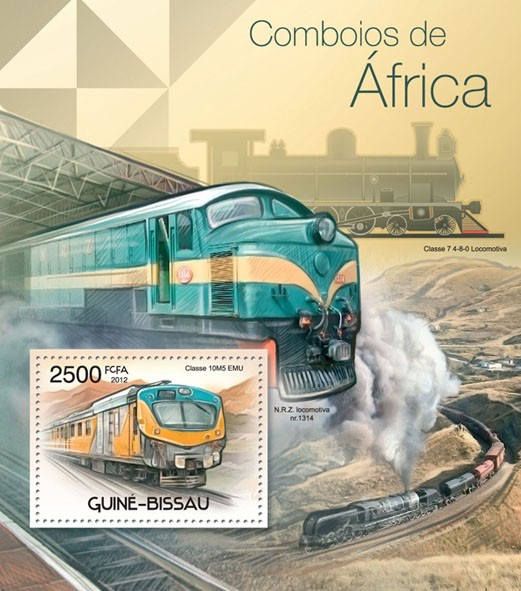 Trains of Arfica, (Classe 10M5 EMU). - Issue of Guinée-Bissau postage stamps