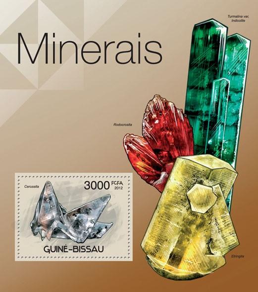Minerals, (Cerussita). - Issue of Guinée-Bissau postage stamps