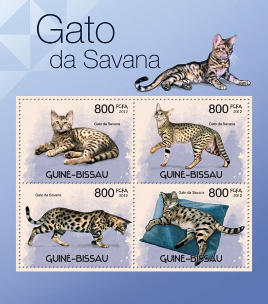 Cats of Savana. - Issue of Guinée-Bissau postage stamps