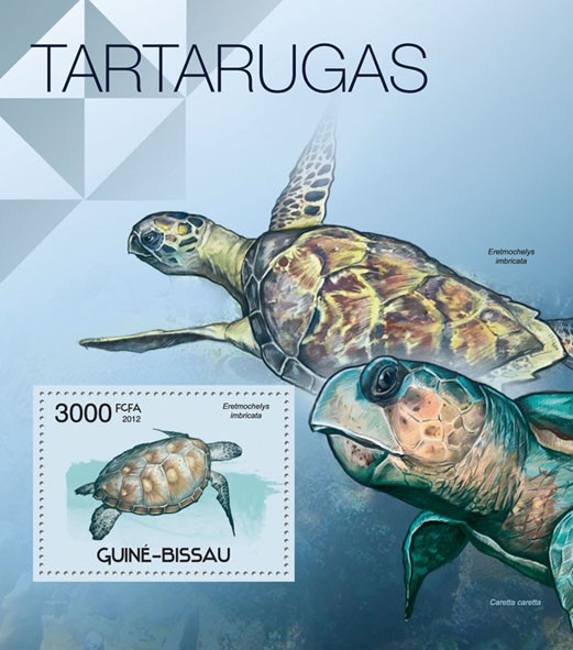 Turtles, (Eretmochelys imbricata). - Issue of Guinée-Bissau postage stamps
