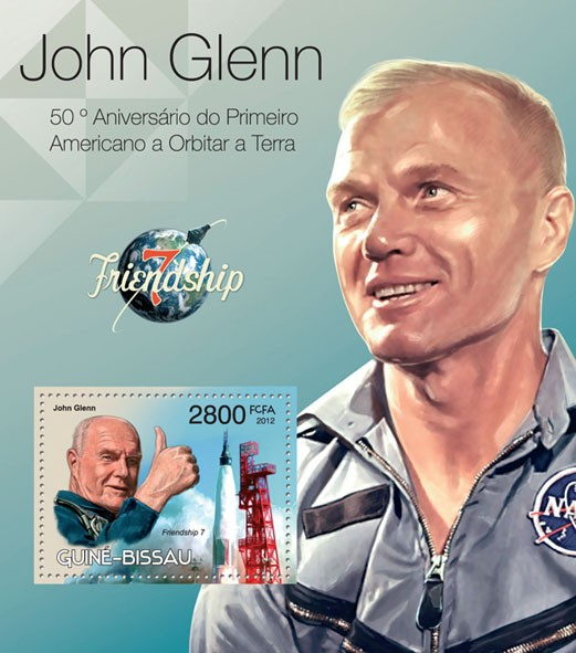 John Glenn & Friendship 7. - Issue of Guinée-Bissau postage stamps