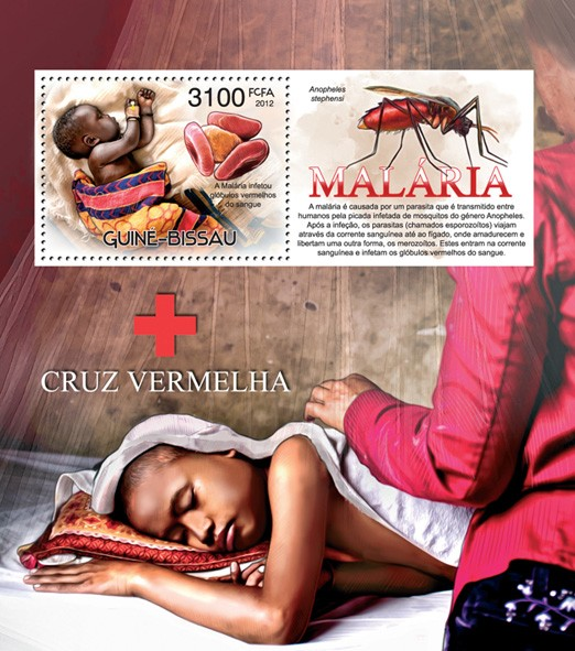 Malaria and Red Cross - Issue of Guinée-Bissau postage stamps