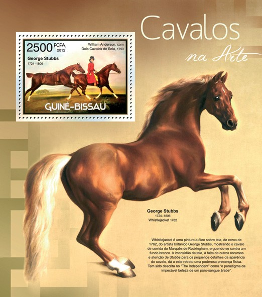 Horses - Issue of Guinée-Bissau postage stamps