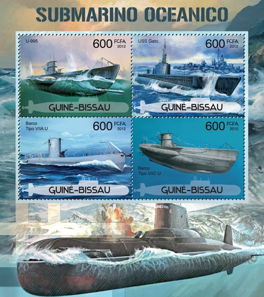 Submarines - Issue of Guinée-Bissau postage stamps
